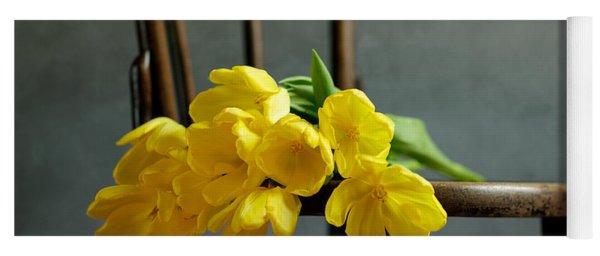 Still Life With Yellow Tulips Yoga Mat