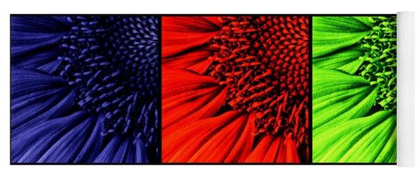 3 Tile Sunflower Colors Yoga Mat