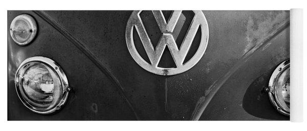 Volkswagen Vw Bus Front Emblem Yoga Mat