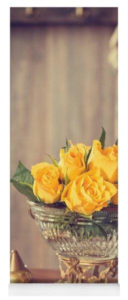 Yellow Roses Yoga Mat