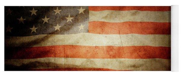 American Flag Rippled Yoga Mat