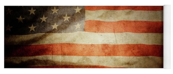 American Flag Rippled Yoga Mat