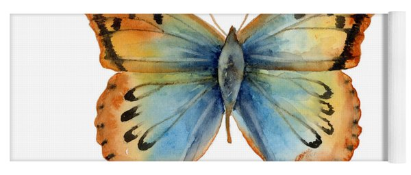 33 Opal Copper Butterfly Yoga Mat