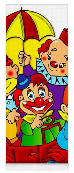 Clowns Series 01 Yoga Mat