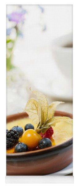 Creme Brulee Dessert Yoga Mat