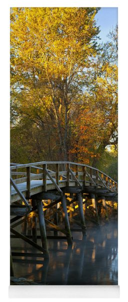 Yoga Mat featuring the photograph Old North Bridge Concord by Brian Jannsen