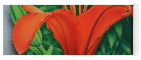 Orange Lily Yoga Mat