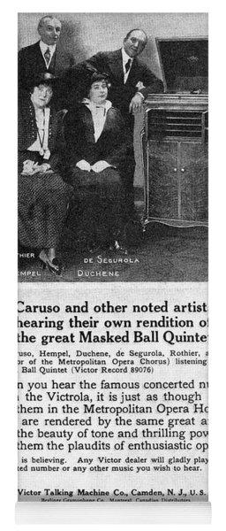 Phonograph, 1914 Yoga Mat