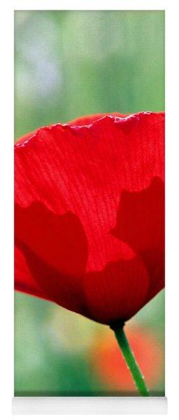 Poppy Flower Yoga Mat