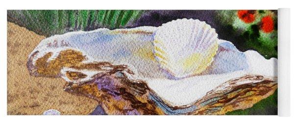 Sea Shell And Pearls Morning Light Yoga Mat