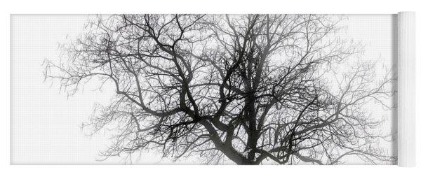 Winter Tree In Fog Yoga Mat