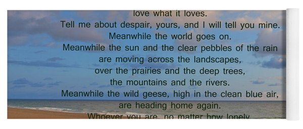 40- Wild Geese Mary Oliver Yoga Mat