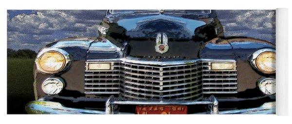 41 Cadillac Blue On Blue Yoga Mat