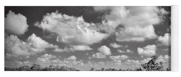 Everglades Landscapebw-5 Yoga Mat