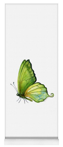 5 Sap Green Butterfly Yoga Mat
