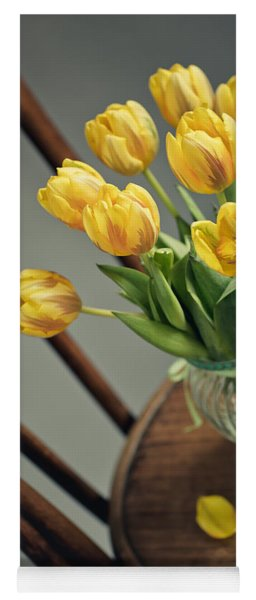Still Life With Yellow Tulips Yoga Mat