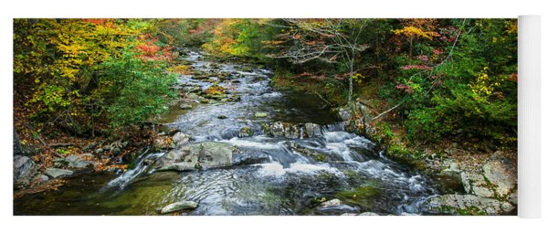 Stream Great Smoky Mountains Painted Yoga Mat