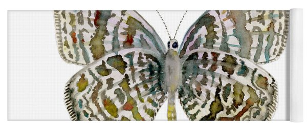 51 Lang's Short-tailed Blue Butterfly Yoga Mat