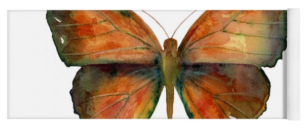 56 Copper Jewel Butterfly Yoga Mat