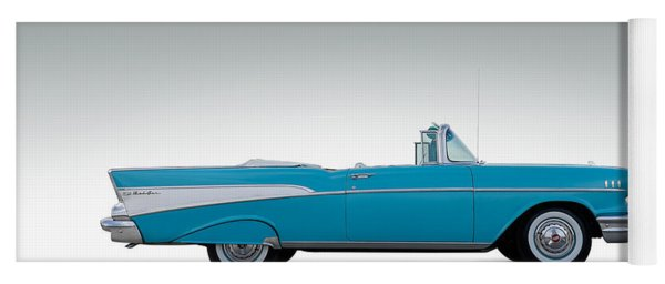 57 Chevy Convertible Yoga Mat