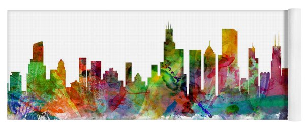 Chicago Illinois Skyline Yoga Mat