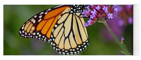 Monarch Butterfly In Garden Yoga Mat