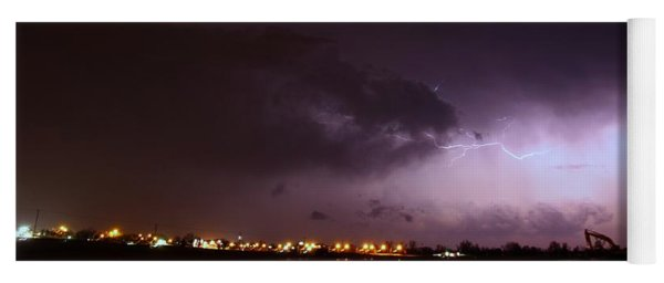 Our 1st Severe Thunderstorms In South Central Nebraska Yoga Mat
