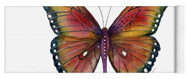 66 Spotted Wing Butterfly Yoga Mat