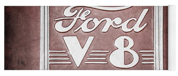 1940 Ford Deluxe Coupe Emblem Yoga Mat