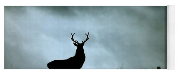 Stag Silhouette Yoga Mat