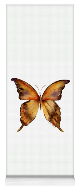 7 Yellow Gorgon Butterfly Yoga Mat