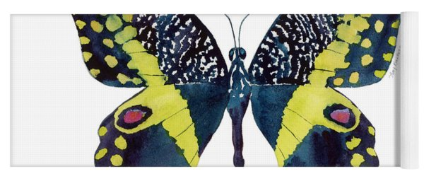 73 Citrus Butterfly Yoga Mat