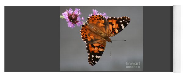 American Painted Lady Butterfly Yoga Mat