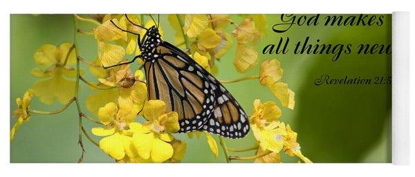 Butterfly Scripture Yoga Mat