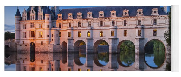 Yoga Mat featuring the photograph Chateau Chenonceau by Brian Jannsen