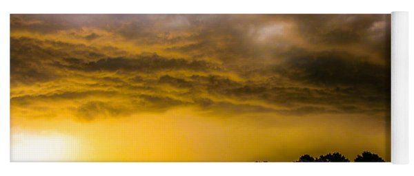 Late Afternoon Nebraska Thunderstorms Yoga Mat