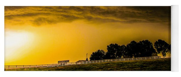 Yoga Mat featuring the photograph Late Afternoon Nebraska Thunderstorms by NebraskaSC
