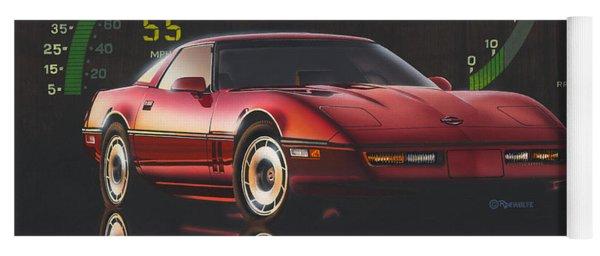 84 Corvette Yoga Mat