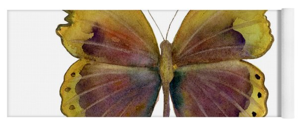 84 Gold-banded Glider Butterfly Yoga Mat