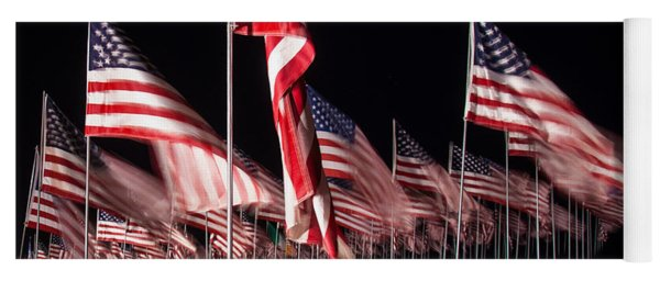 9-11 Flags Yoga Mat