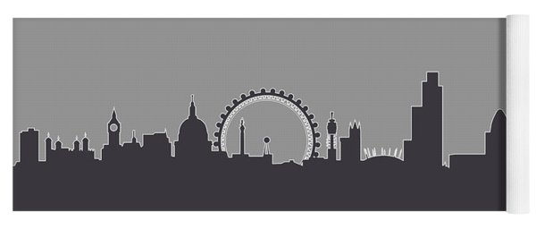 London England Skyline Yoga Mat