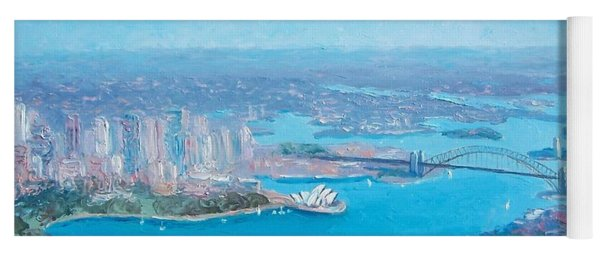 Sydney Harbour And The Opera House Aerial View  Yoga Mat
