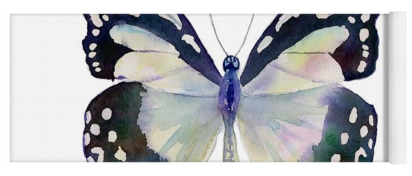 90 Angola White Lady Butterfly Yoga Mat