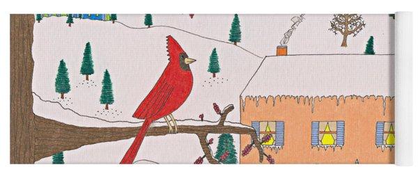 A Cardinal Christmas Yoga Mat