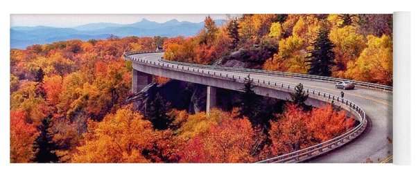 A Colorful Ride Along The Blue Ridge Parkway Yoga Mat