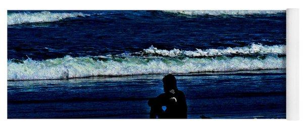 a contemplative surfer  - Psalm 46 - 10 Yoga Mat