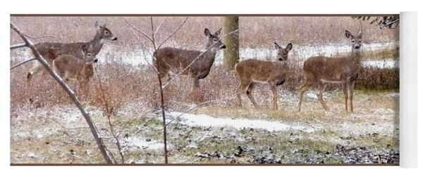 A Dusting On The Deer Yoga Mat