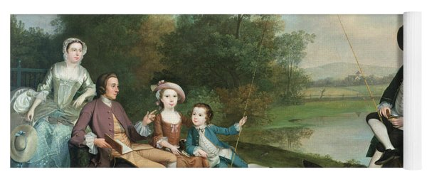 A Family Of Anglers, 1749 Oil On Canvas Yoga Mat