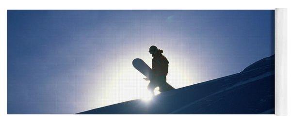 A Female Snowboarder Hiking Yoga Mat