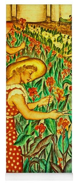 A Flower Harvest Yoga Mat